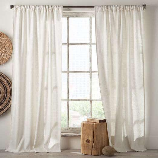 Curtains Ideas cotton curtains white : Linen Cotton Curtain - White: Remodelista