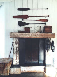 Mankas Inverness Lodge Boat House Mantel | Remodelista