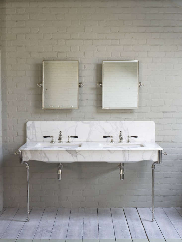 The Water Monopolys Marble Double Basin: Remodelista