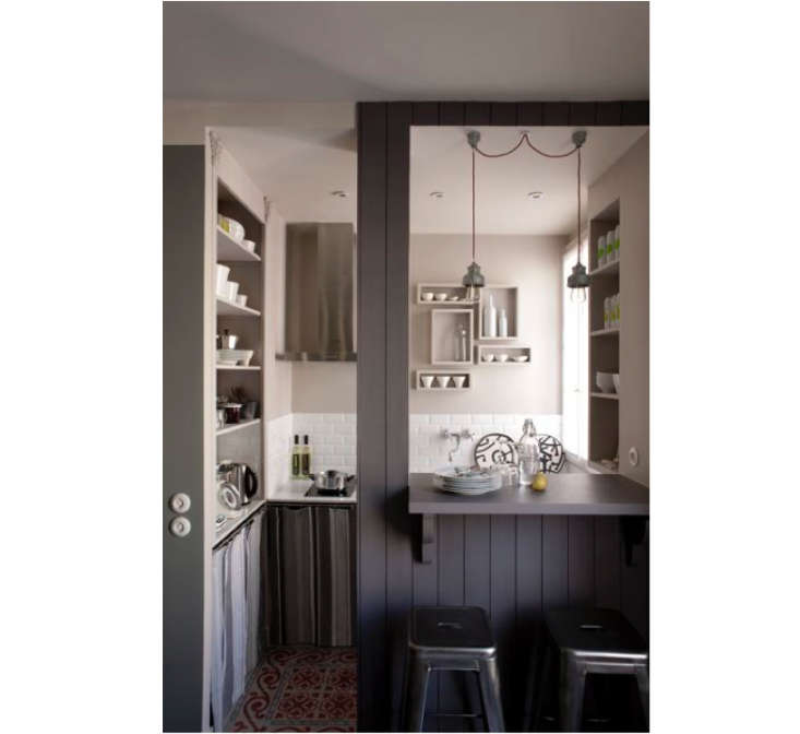 Steal This Look A Tiny Romantic Paris Kitchen Remodelista