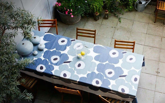 Unikko Blue Oil Cloth Remodelista