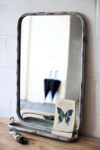 Ben Pentreath Mirror with Shelf/Remodelista