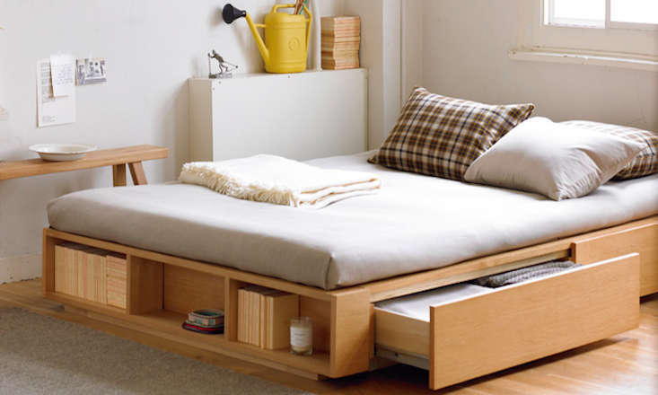 sleep and stow bed frames with builtin storage