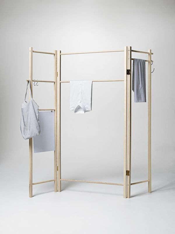360 Degrees Foldable Garment Rack Remodelista