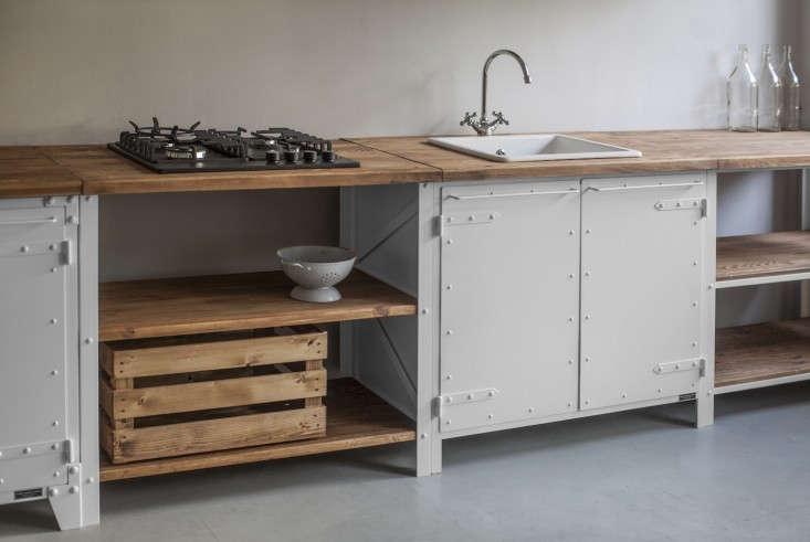 Trend alert 17 deconstructed kitchens remodelista for Basic kitchen cupboards