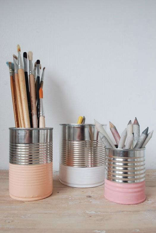 painted-cans-with-pencils