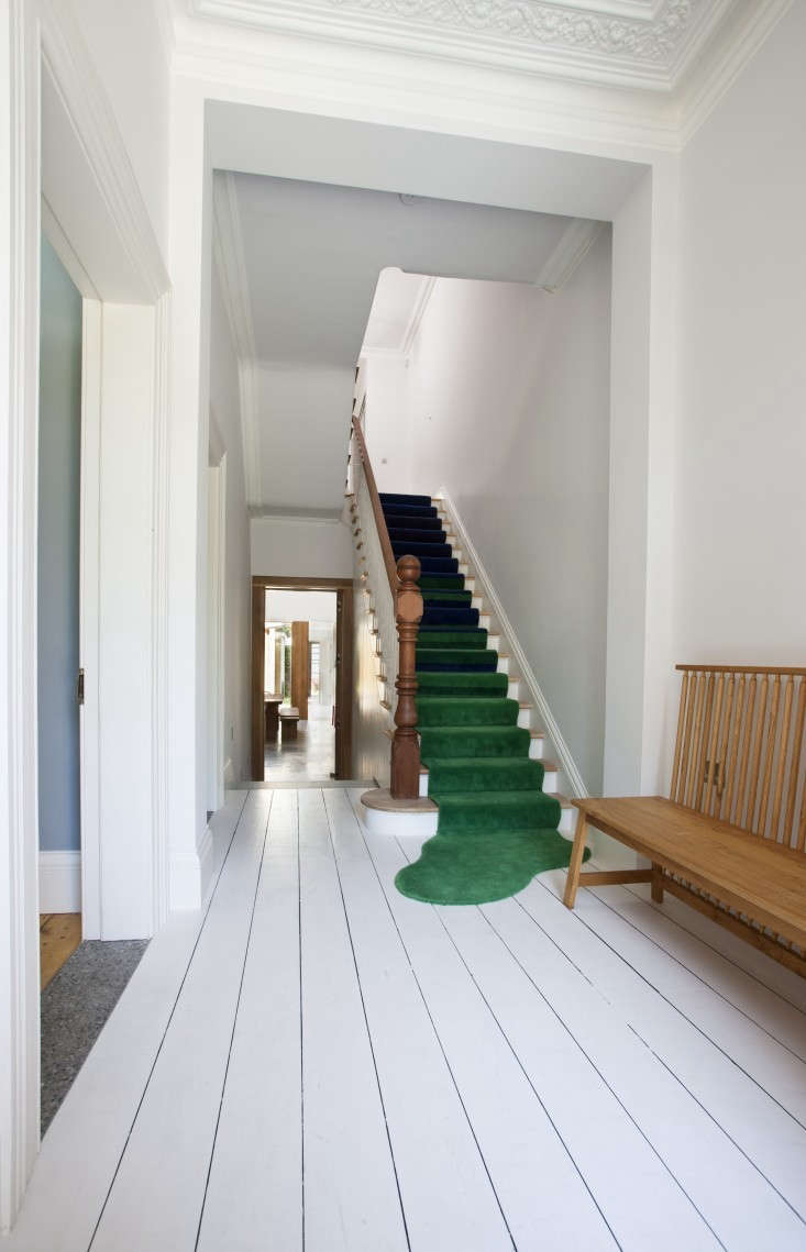 Perhaps the most inventive stair runner we've seen: a runner spotted inA Victorian Transformation, Dublin Style.