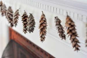 DIY Pine Cone Holiday Garland | Remodelista