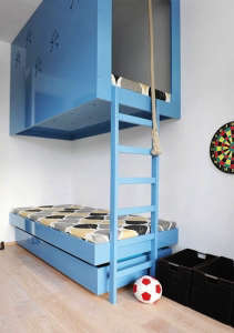 Pirate Decal Bunk Bed in Blue | Remodelista