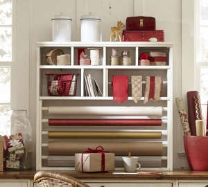 Pottery Barn Wrapping Station Remodelista
