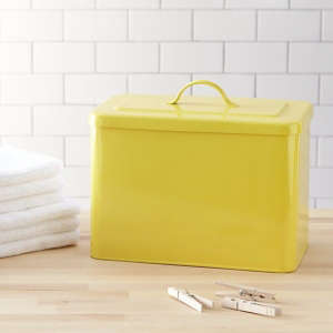 West Elm Yellow Bin/Remodelista