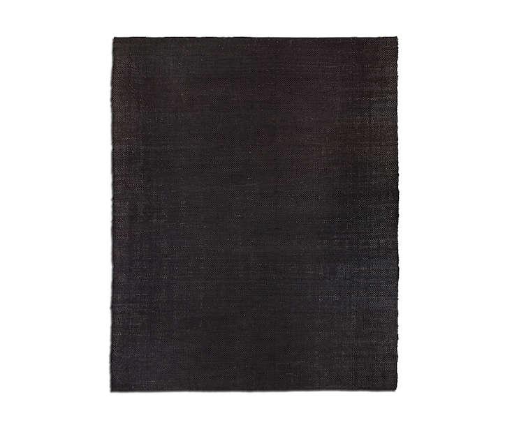 Restoration Hardware Area Rugs: 10 Easy Pieces: Black, Low-Pile Area Rugs: Remodelista