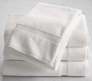 Restoration Hardware White Turkish Bath Towels | Remodelista