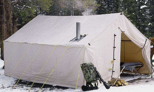 Cabela s outfitter wall tents by montana canvas remodelista for How to build a canvas tent frame