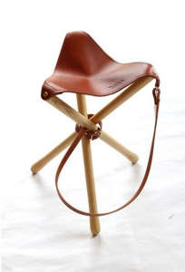 Sanborn Leather Tripod Stool | Remodelista