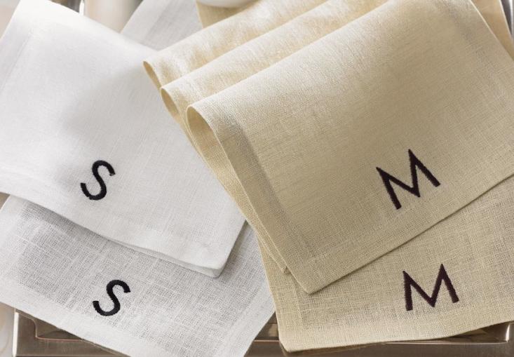 sferra-modern-monogram-cocktail-napkins-remodelista