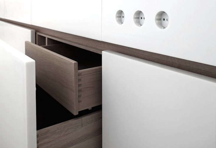 in a fitted kitchen by german company holzrausch, two tiered drawers double the 14