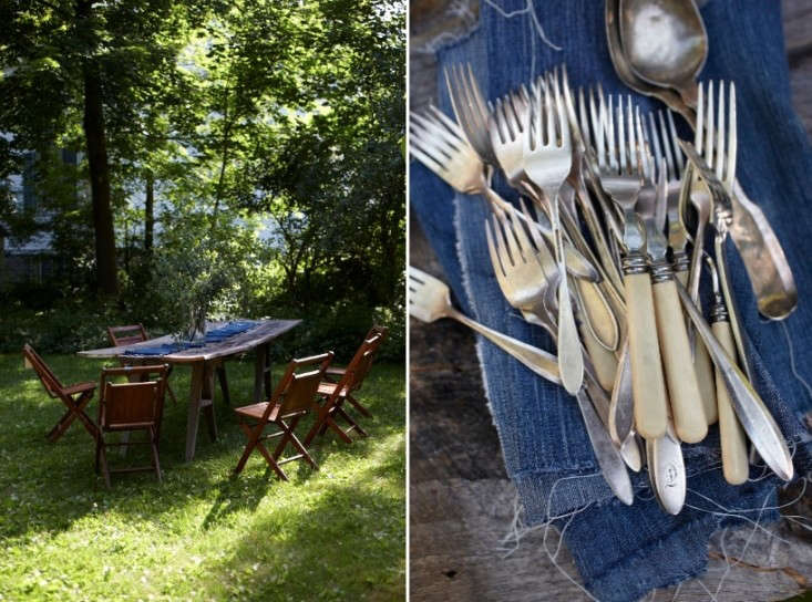 torn-denim-napkins-Hilary-Robertson-Remodelista