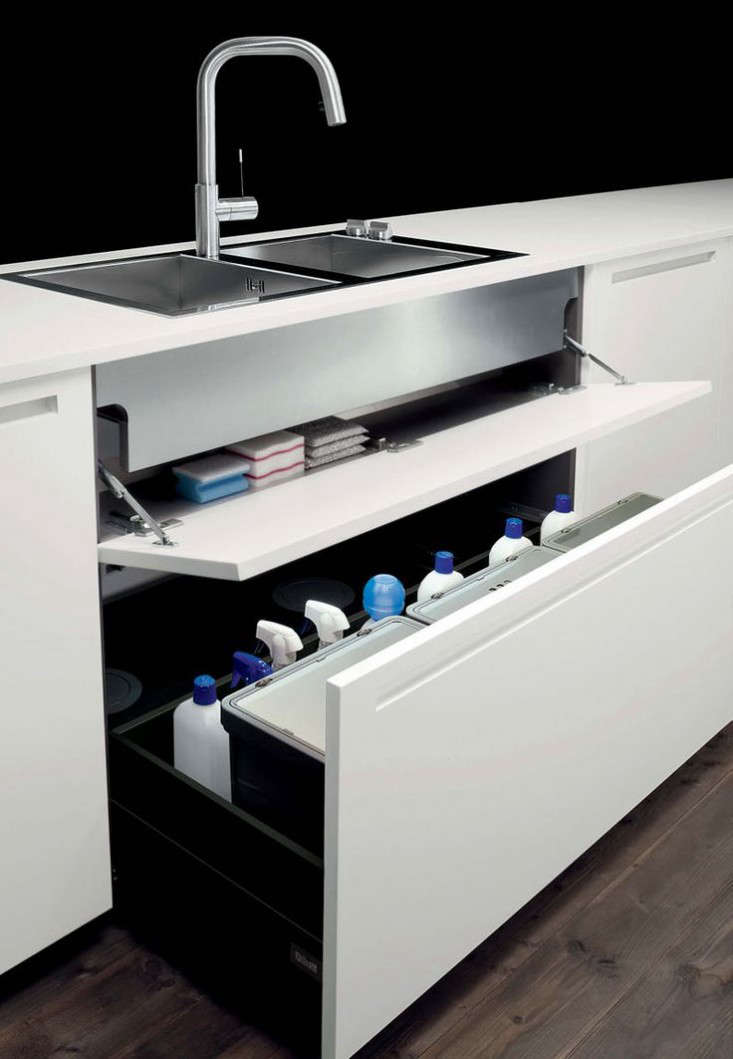 a storage drawer under the sink from boffi. 20
