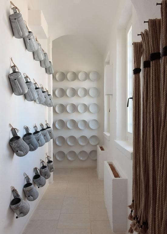 wall-of-white-plates