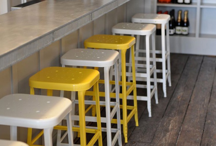 5 Favorites Bright Painted Industrial Stools Remodelista