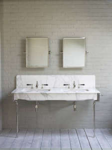 Water Monopoly Double Sink/Remodelista