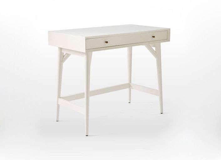 Mid Century Mini Desk White Remodelista