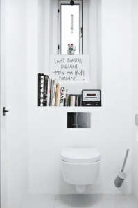 Tiny White Bathroom/Remodelista