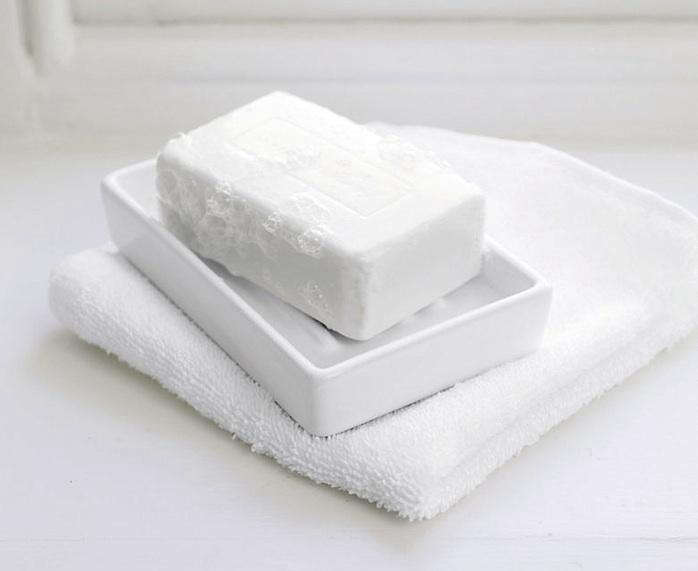 Ceramic Soap Dish White Remodelista