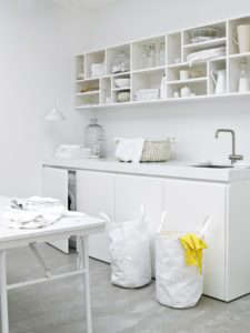 All White European Laundry Room from Living in Design Land | Remodelista