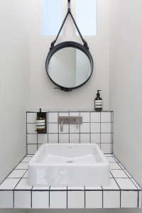 White Tiled Tiny Bathroom/Remodelista