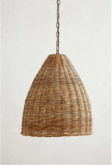 High Low A Trio Of Woven Wicker Pendant Lights Remodelista