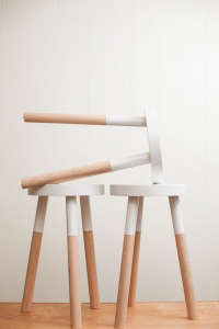 wooden stools by Pecan Workshop