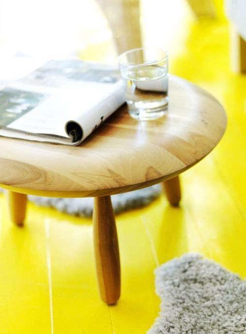 yellow-floor-ikea-stool-remodelista