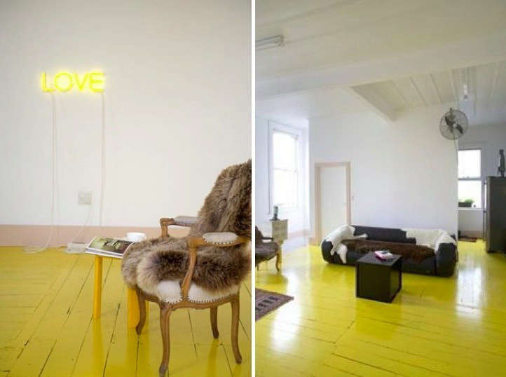 yellow-painted-floor-yellow-neon-sign