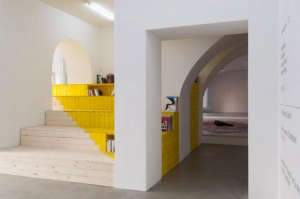 Color Washed Stairway/Remodelista