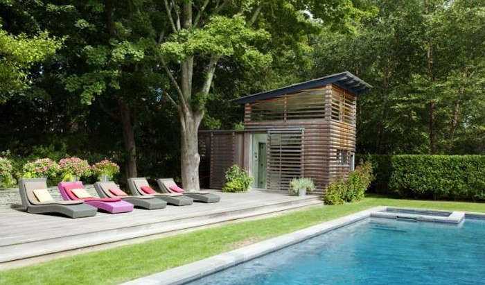 Pool Houses Designs pool houses design pictures remodel decor and ideas page 3 patiopool pinterest fireplaces ideas and pictures Above A Pool House In The Hamptons Designed By Remodelista Directory Member Alex Scott Porter Design