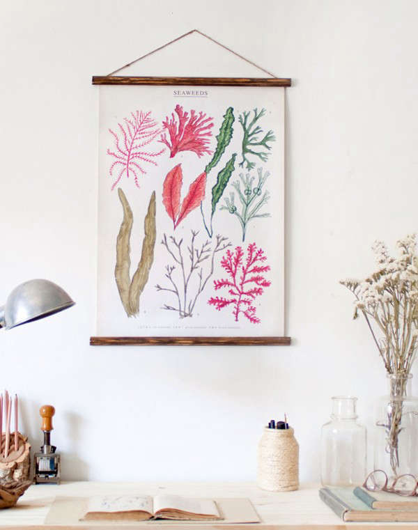 Seaweed Canvas Poster by Arminho on Etsy