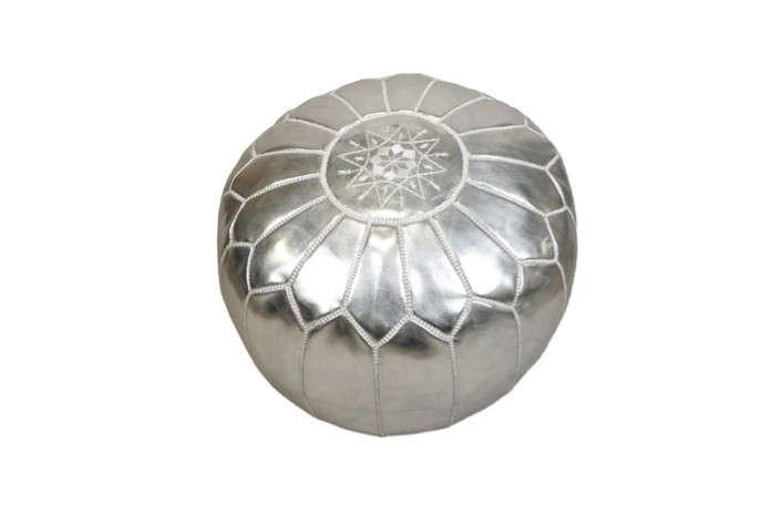 Silver-Moroccan-Pouf