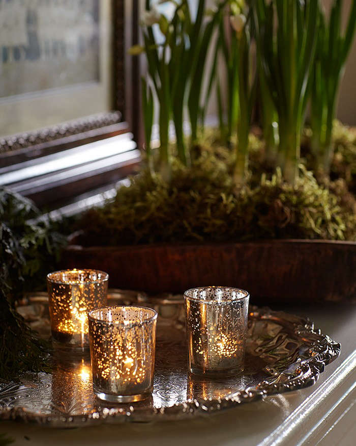 woodland%20holiday%20party%20at%20Michelle%27s%20house%20votives%20l%20Gardenista