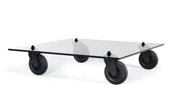 Diy Glass Coffee Table On Wheels Remodelista