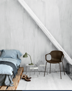 Fritz Hansen Chair Color-Washed Room/Remodelista