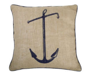 Thomas Paul Seafarer Anchor Jute Pillow