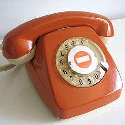 60s_orange_rotary_phone