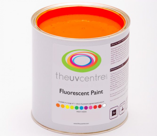 Light red fluorescent brushable paint remodelista for Neon yellow wall paint