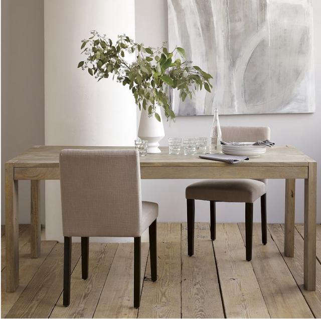 West Elm Rustic Kitchen Table: Boerum Dining Table: Remodelista
