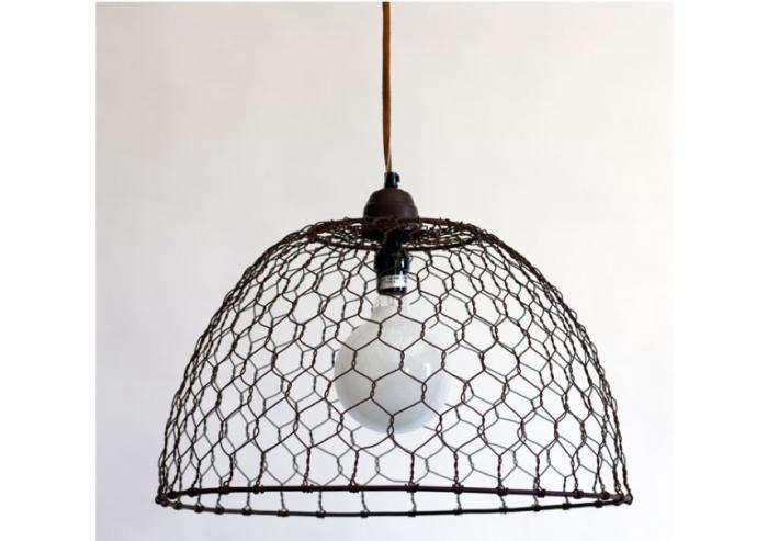 Chicken Wire Basket Pendant Lamp Remodelista