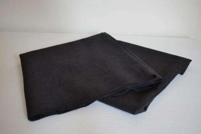 Black Canvas Drop Cloth Remodelista