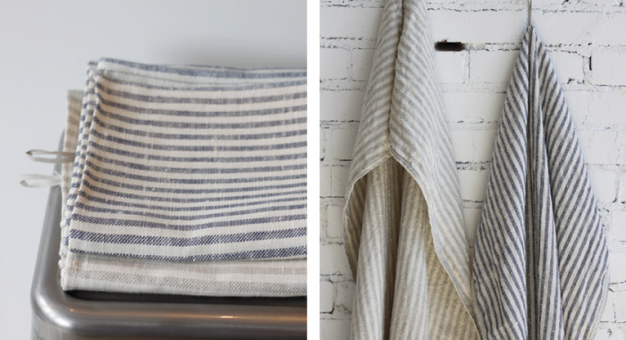 Striped Linen Bath Towels Remodelista
