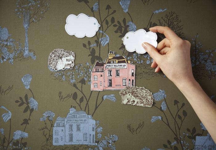 magnetic woodlands wallpaper sample pack remodelista